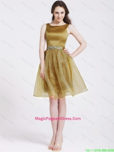 Beautiful Short Pageant Dresses with Beading and Belt
