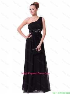 Pretty One Shoulder Sequined Pageant Dresses in Black
