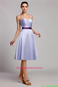 Modern Empire Sweetheart Short Pageant Dresses with Belt for Homecoming