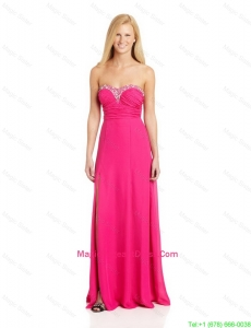 Pretty Empire Sweetheart Pageant Dresses with Brush Train in Hot Pink