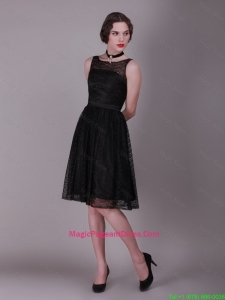 Best Selling 2016 Bateau Belt Laced Pageant dresses in Black