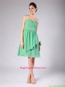 Exquisite Sweetheart Short Ruching and Belt Pageant Dresses