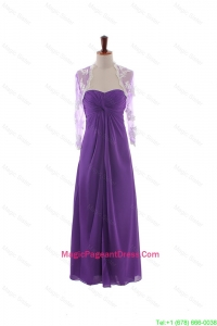 Pretty Empire Strapless Pageant Dresses with Ruching in Eggplant Purple