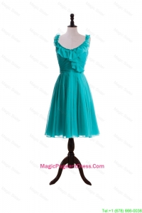 2016 Summer A Line Scoop Pageant Dresses with Paillette in Turquoise