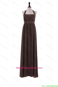 Custom Made 2016 Halter Top Brown Pageant Dresses for Brown