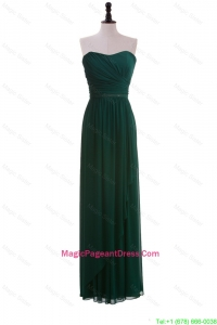 2016 Custom Made Empire Strapless Ruching Pageant Dresses in Dark Green