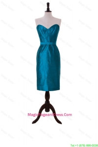 2016 New Style Belt Teal Short Pageant Dresses
