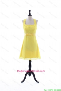 2016 Summer Empire Halter Top Pageant Dresses with Belt