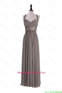 Custom Made Empire Halter Top Pageant Dresses with Ruching