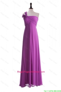 Custom Made Empire One Shoulder Pageant Dresses with Ruching