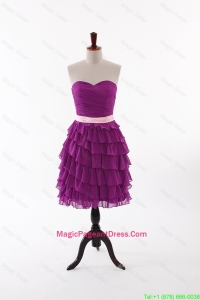 Cute Short Pageant Dresses with Bowknot and Ruffled Layers