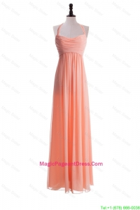 Exclusive 2016 Halter Top Long Pageant Dresses in Watermelon