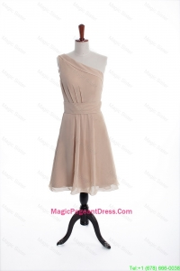 Fancy Champagne Short Pageant Dresses with Belt for Holiday