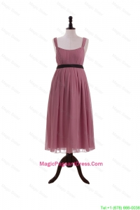 New Arrival Straps Short Pageant Dresses with Belt and Bowknot