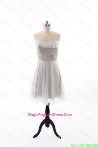 Custom Made 2016 Summer Short Pageant Dress with Sequins and Belt