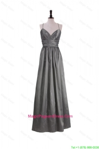 Gorgeous A Line Spaghetti Straps Pageant Dresses with Belt in Grey