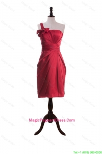 Wonderful Bowknot and Ruching Short Pageant Dresses in Wine Red