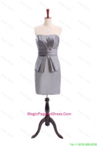 2016 Special Beading Short Grey Pageant Dresses in Grey