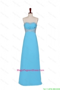 2016 Special Empire Strapless Pageant Dresses with Beading in Baby Blue