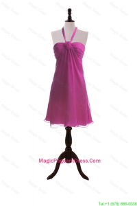 Custom Made Hand Made Flowers Fuchsia Short Pageant Dresses
