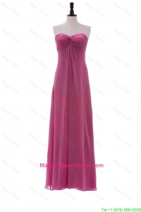 Discount Sweetheart Ruching Long Pageant Dresses in Chiffon