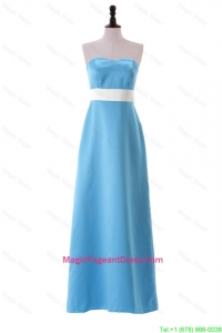 Most Popular 2016 Aqua Blue Pageant Dresses with Belt and Bowknot