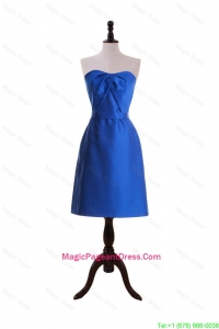 New Style Royal Blue Short Pageant Dresses with Belt for 2016