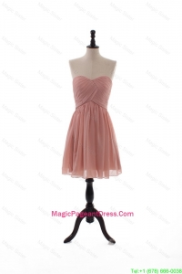 2016 Summer Empire Sweetheart Ruching Pageant Dresses in Peach