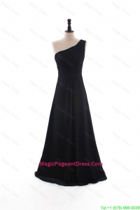 Custom Made A Line Empire Ruching Pageant Dresses with Brush Train