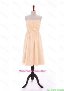 Discount 2016 Bowknot Peach Short Pageant Dresses in Chiffon
