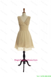 Luxurious Ruching Short Pageant Dresses in Champagne