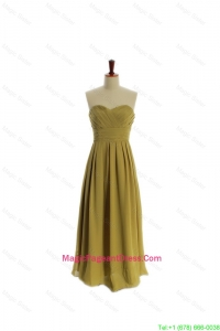 Special A Line Olive Green Olive Green Long Pageant Dresses