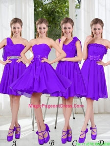 2016 Fall A Line Bowknot Pageant Dresses in Purple