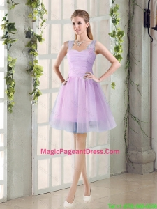 2016 Summer A Line Straps Ruching Pageant Dresses with Hand Made Flowers