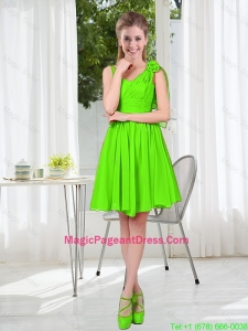 A Line Hand Made Flowers Pageant Dresses in Spring Green