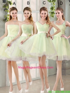 Custom Made Mini Length Pageant Dresses in Yellow Green
