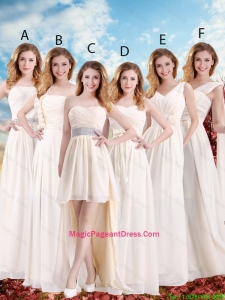 Elegant Empire Champagne Pageant Dresses with Hand Made Flowers