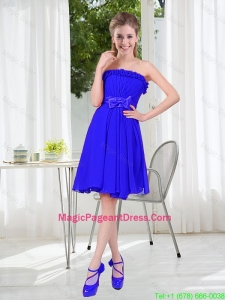 Short Strapless Pageant Dresses for Wedding Party