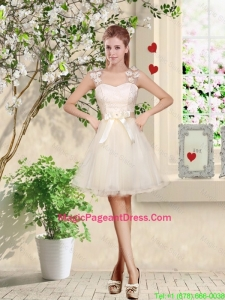 Suitable Straps Appliques and Belt Pageant Dresses with Lace Up