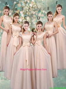Luxurious Champagne Pageant Dresses with Lace and Bowknot