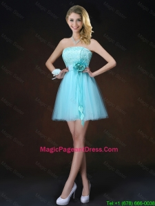 Cheap Lace Short Pageant Dresses in Aqua Blue