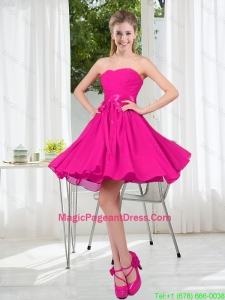 Custom Made Sweetheart Short Pageant Dress with Bowknot
