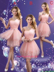 Popular One Shoulder and Belt Pageant Dresses in Pink
