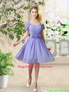 Elegant Hand Made Flowers Pageant Dresses with Short Sleeves