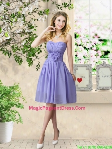 Pretty Strapless Pageant Dresses with Hand Made Flowers