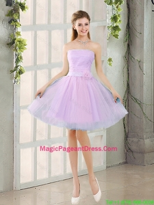 Custom Made A Line Strapless Ruching Pageant Dresses with Belt