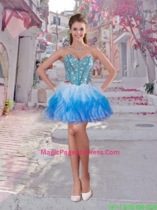 Elegant Short Multi Color Pageant Dresses with Beading and Ruffles