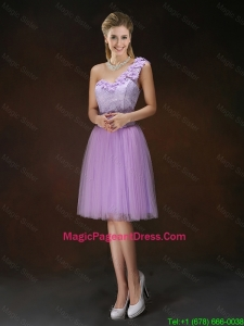 Fashionable One Shoulder Hand Made Flowers Pageant Dresses
