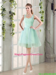 2016 Custom Made A Line Straps Pageant Dresses with Ruching