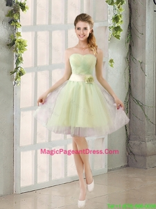 Custom Made A Line Strapless Pageant Dresses with Belt